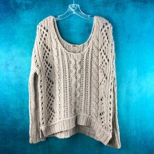FREE PEOPLE CHUNKY CABLE SWEATER AG038